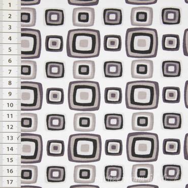 Stenzo Retro Squares grau weiß