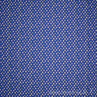 Baumwollstoff Dreiecksrauten blau – Bild 2
