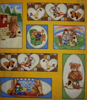 Popcorn the Bear Teddy Bildchen Rapport gelb