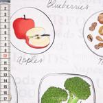 Food Labels Gemüse, Obst und Nüsse 001