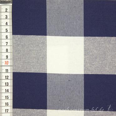 Dekostoff Vichy Karo 5,5cm marineblau - Überbreite -
