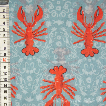 Lobster Voile türkis by Cherry Picking – Bild 1