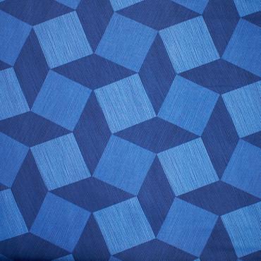 Michael Miller Luxe Tumble Blocks blau -Überbreite- – Bild 3