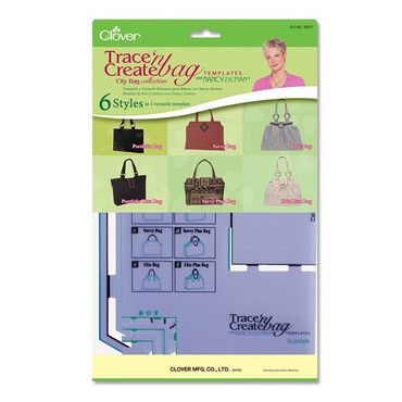 Schnittmusterschablone Plastik Trace'n Create Bag City 6 Styles