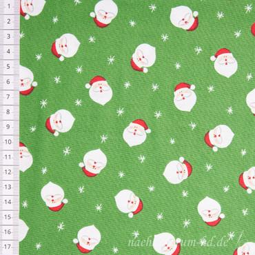 Makower Novelty Christmas Santa Heads grün
