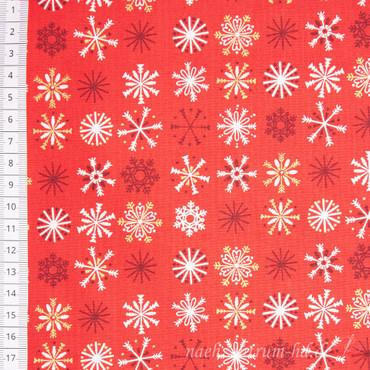 Makower Traditional Christmas Schneeflocken rot
