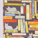Windham Fabrics Smarty Cats Katzen im Bücherregal