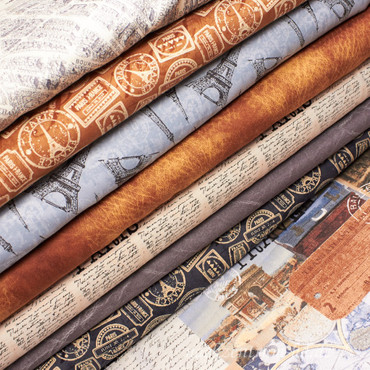 Windham Fabrics Destination Paris Lederlook cognac – Bild 2
