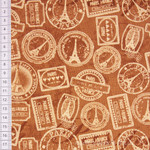 Windham Fabrics Destination Paris Poststempel cognac