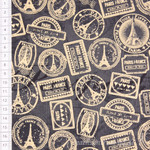 Windham Fabrics Destination Paris Poststempel schiefer