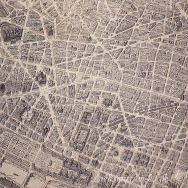 Windham Fabrics Destination Paris Stadtplan antik – Bild 2
