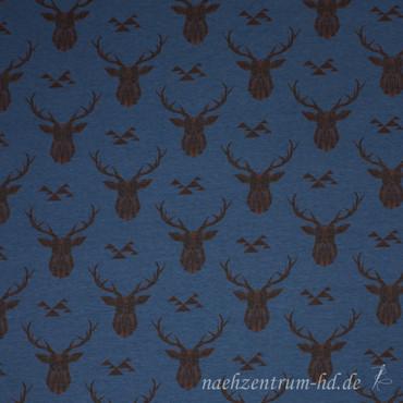 Jersey Geometric Deer dunkelblau – Bild 2