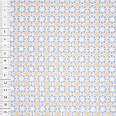 Portofino Blumenkreise hellblau grau
