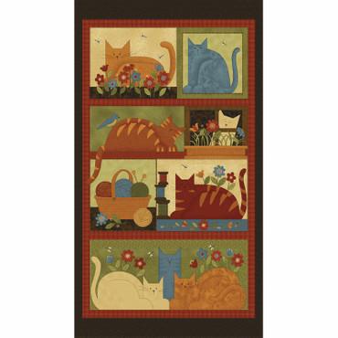 Crafty Cats Katzen Panel traditionell – Bild 1