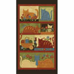Crafty Cats Katzen Panel traditionell