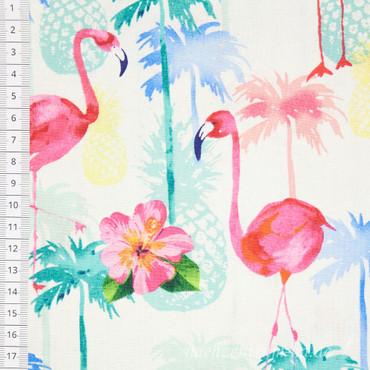 Timeless Treasures Florida Flamingo Ananas – Bild 2