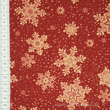 Living Lodge Schneeflocken rot  – Bild 1