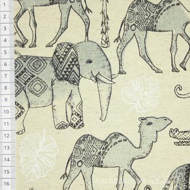 Dekostoff Ethno Tiere am Nil – Bild 1