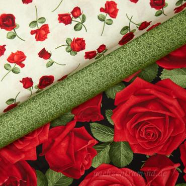 Timeless Treasures Glamour Rosen midi creme – Bild 2