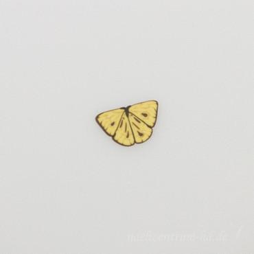Zierknopf Schmetterling gelb