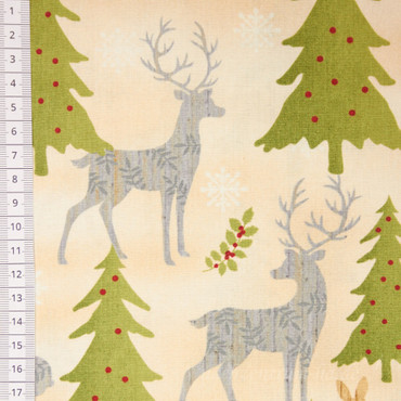 Holiday Meadow Winterwald beige
