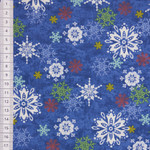 Winter Joy Schneeflocken bunt blau 001