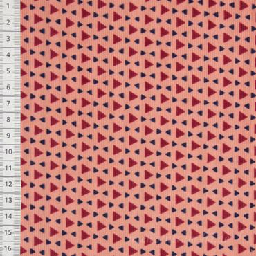 Poppy Babycord Dreiecke rosa