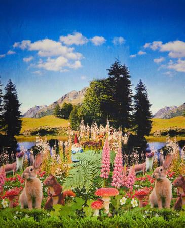 Bordüren Jersey Hase Gartenzwerg Berge – Bild 1