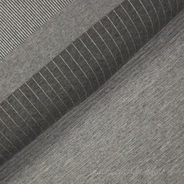 Viskose Mini Biesen Strick grau meliert – Bild 2