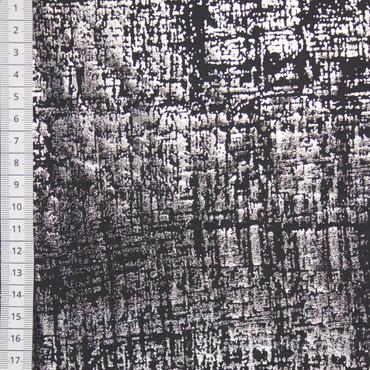 Lillestoff Metallic Viskosejersey grau – Bild 1