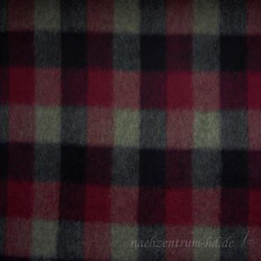 Loden Wollstoff Karo lila grau – Bild 1