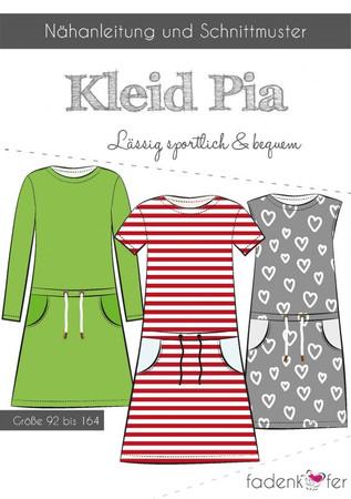 Fadenkäfer Schnittmuster Pia Kleid für Kinder (Gr. 92-164) – Bild 1