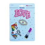 Love Auge Patches, aufbügelbar 001