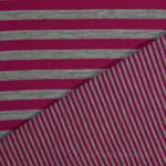 Interlock Doubleface Streifen Jersey pink grau
