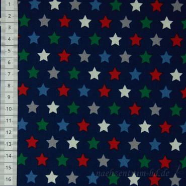 QjuTie Baumwoll Sterne rot grün blau
