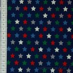 QjuTie Baumwoll Sterne rot grün blau 001