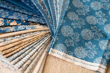 Makower Blue Sky Daisy beige – Bild 2