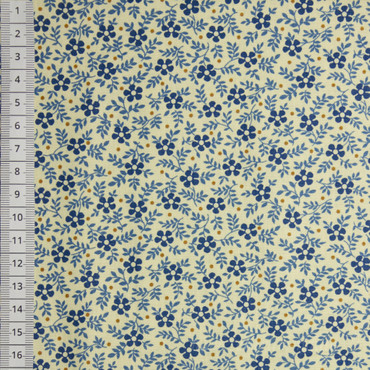 Makower Blue Sky Meadow blau creme – Bild 1