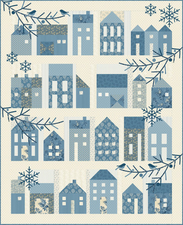 Winter Village Häuserquilt inklusive Appliset – Bild 1