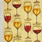 Vintage Wein Gläser beige