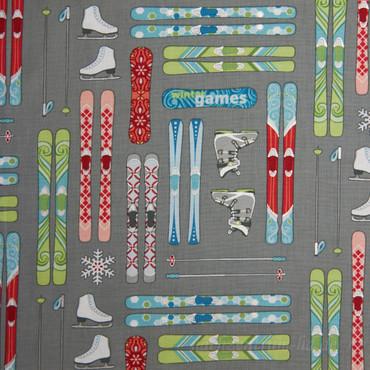 Winter Games Skis grau