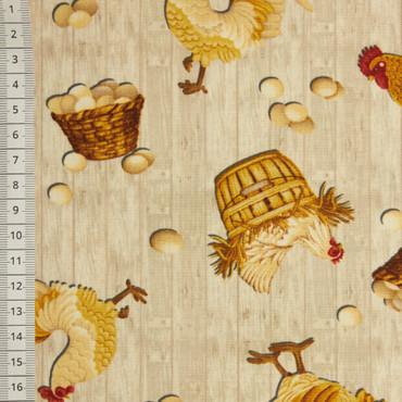 Chicken Toss Allover grau