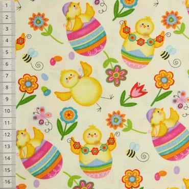 Chicken and Eggs Allover weiß – Bild 1
