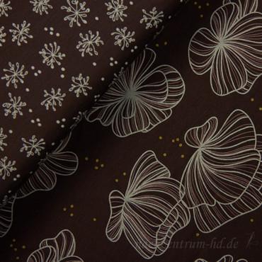 Lillestoff Modaljersey Flor Del Mar rot-braun  – Bild 3