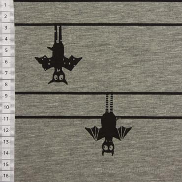 Fledermaus Jersey hellgrau meliert – Bild 2