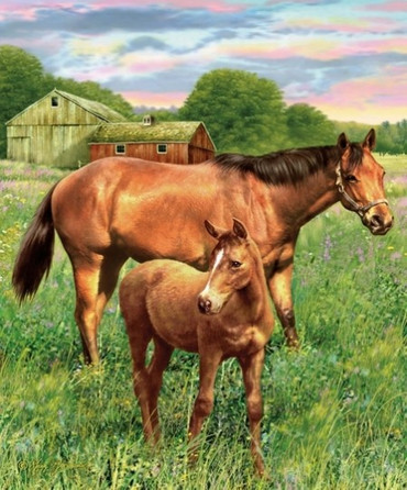 Riley Blake Mare and Foal Panel