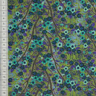 Pastiche Cherry Blossom blaugrün – Bild 2