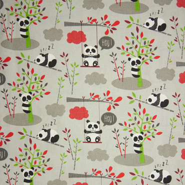 Baumwolle Pandas grau – Bild 1