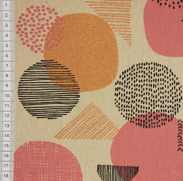 Canvas Gold Geometric rosé – Bild 2