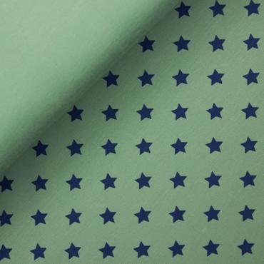 Baumwolljersey Sterne pastellgrün – Bild 2